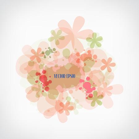 Water color flower background, vector illustration Vector