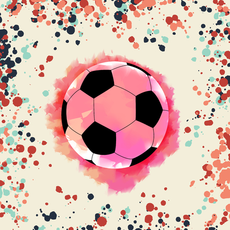 Soccer Championship. on watercolor background