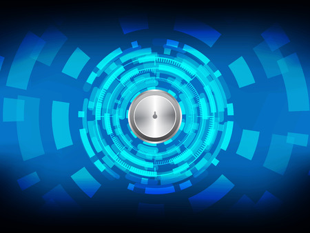 Cyber security Concept  on Abtract Technology background. Vector illustration