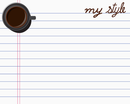 Coffee on Paper Note Creative design for your banners, greetings card, website Illustration