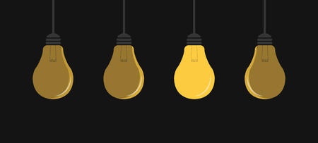 lamp idea vector. free space for text.