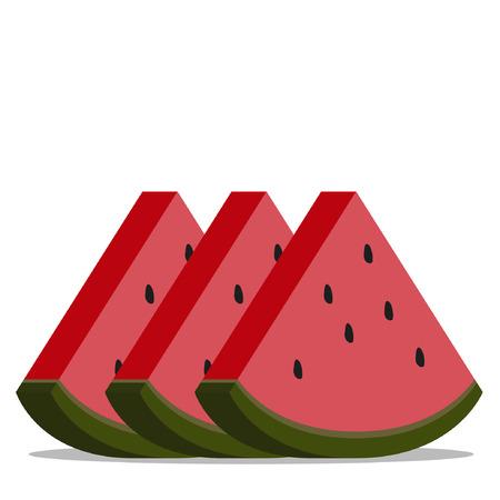 melon cartoon vector.
