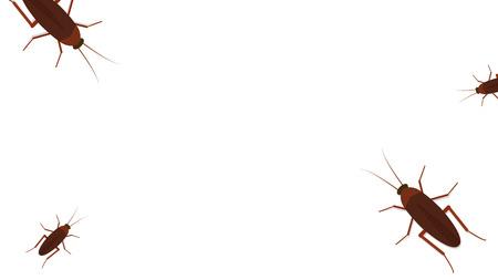 Kakerlaken-Cartoon-Vektor. Freier Platz für Text. Hintergrund.