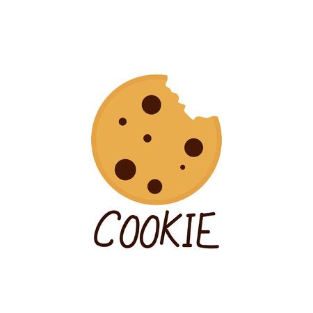 Cookie cartoon vector. logo design.
