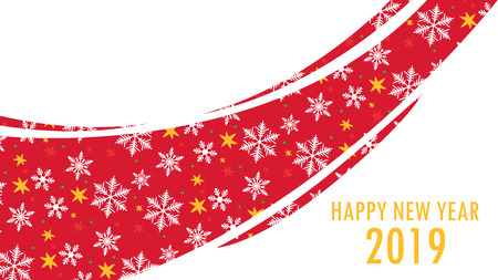Snow pattern vector. Christmas day wallpaper.