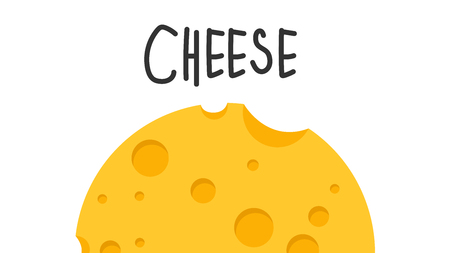 Cheese vector. free space for text. wallpaper. background.