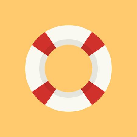 Life ring cartoon vector. symbol. logo.