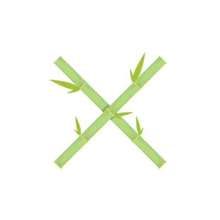 Bamboo symbol vector. logo design.