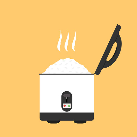 rice cooker cartoon vector. symbol. logo. Stock Illustratie