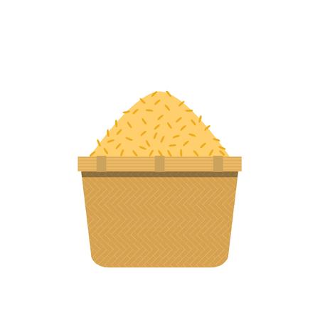 Rice bucket cartoon vector. symbol. Stock Illustratie