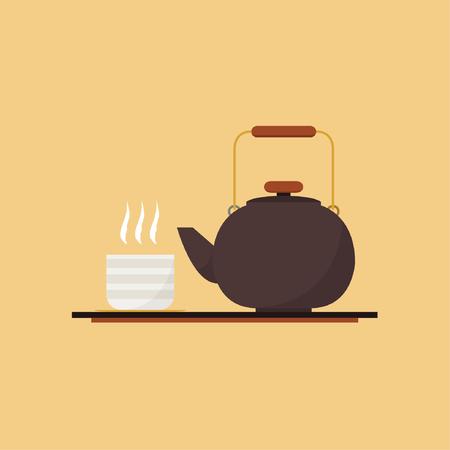 Matcha cartoon vector. tree cup.