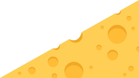 Cheese wallpaper vector. free space for text.