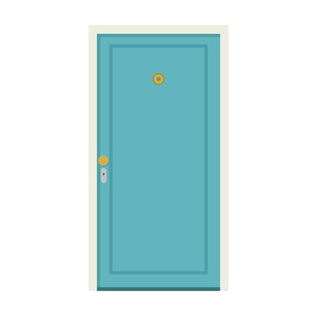 Door cartoon vector.