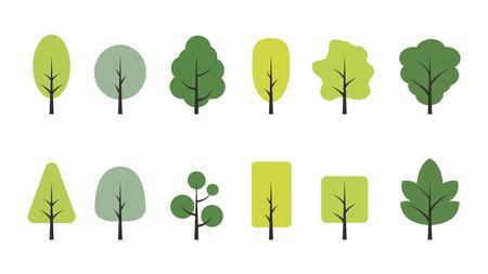 tree cartoon vector set.