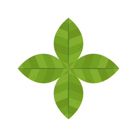 Leaf symbol. logo design. Stock Illustratie