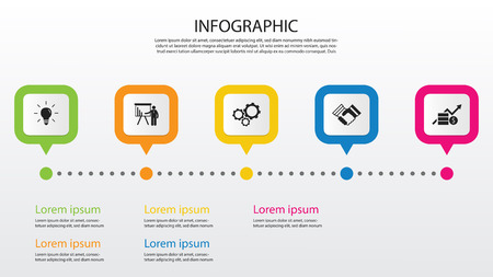Infographic design. wallpaper. free space for text. copy space. Stock Illustratie