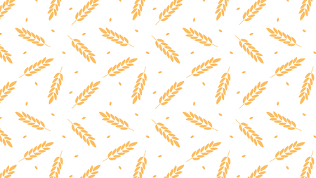 oat pattern vector. wallpaper. free space for text. copy space. rice symbol.