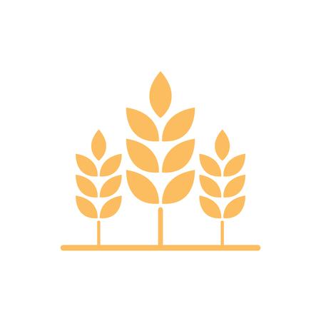 Oat symbol. logo design. rice symbol vector. Иллюстрация