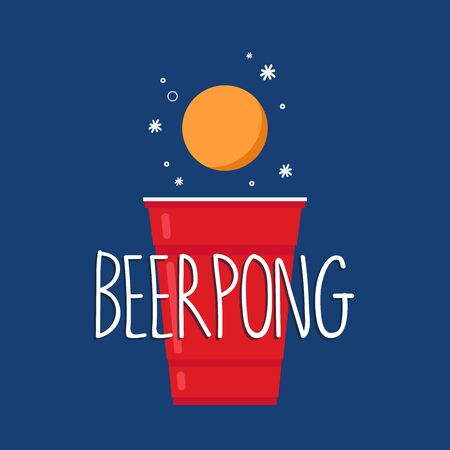 Red beer cup. Beer cup vector. free space for text. wallpaper. copy space.