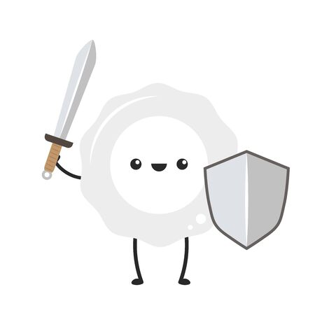 White blood cell character design.  White blood cell on white background.  イラスト・ベクター素材