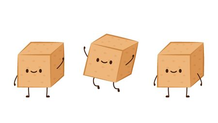 Brown sugar vector. Brown sugar character design.