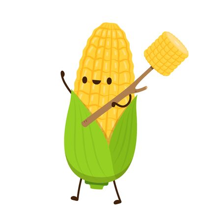 Corn vector. Corn character design.