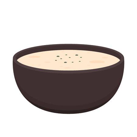 Steamed egg vector. Steamed egg in bowl. wallpaper. 矢量图像