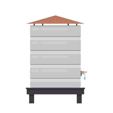 Water tank vector. tap. wallpaper. free space for text. Illustration