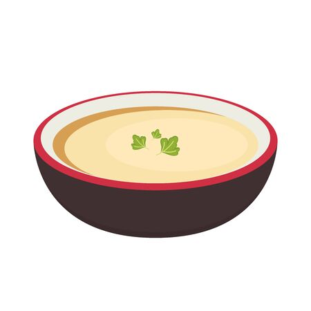 Coriander on Steamed egg. Steamed egg in bowl. Coriander vector.  イラスト・ベクター素材