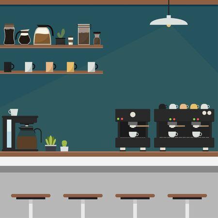 Vecteur de café-bar. espace libre pour le texte. fond d'écran. Contexte.