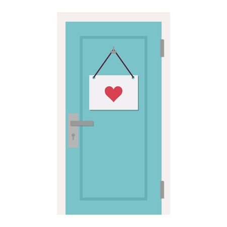 heart door cartoon vector. free space for text. wallpaper. background.