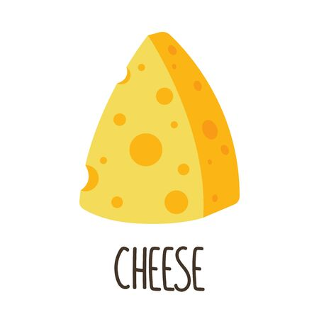 Cheese vector. Cheese on white background. symbol.