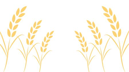 Oat pattern wallpaper. oat symbol. free space for text. 向量圖像
