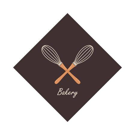 Bakery  design. Bakery sign vector. Whisk  design. 向量圖像