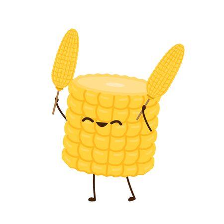 Corn vector. Corn character design. 向量圖像