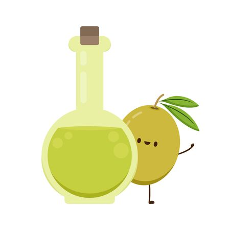 Olive character design. Olive vector. Olive on white background. wallpaper. free space for text. copy space.