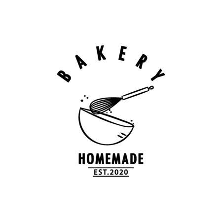 Bakery design. Bakery sign vector. Whisk design.