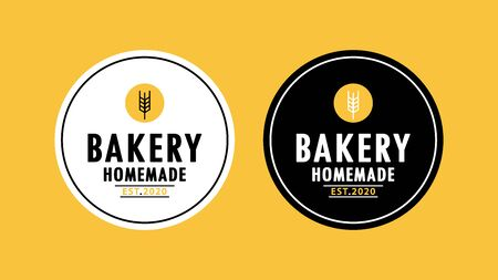 Bakery  design. Bakery sign vector. Oat  design. rice. 向量圖像