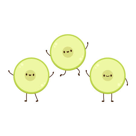 Melon character vector. melon on white background. symbol. 向量圖像