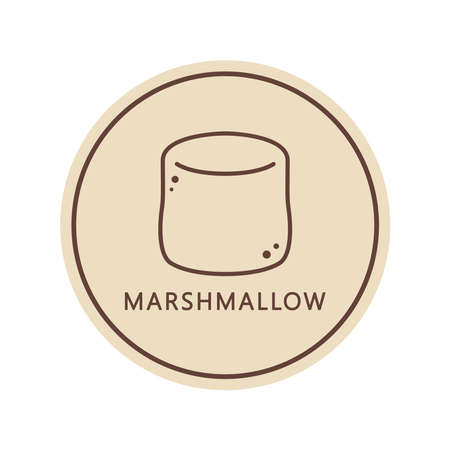 Marshmallow vector. wallpaper. free space for text. background. 向量圖像