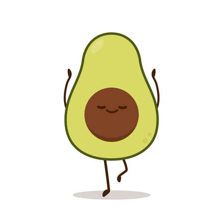 Avocado character design. on white background.