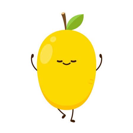 Mango character design. Mango vector on white background. 向量圖像