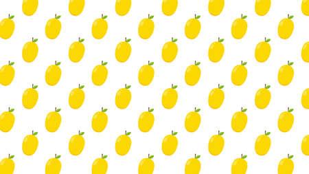 Mango pattern wallpaper. Mango symbol vector.