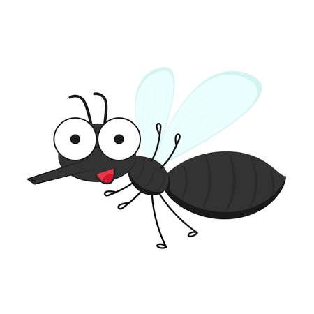 Mosquito cartoon. Mosquito character design.