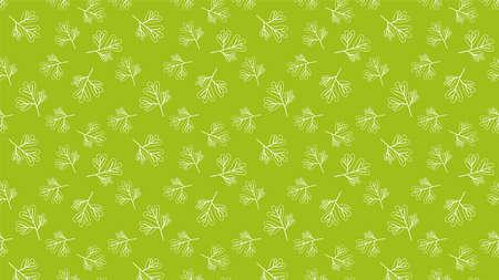 Coriander pattern wallpaper. coriander doodle symbol. 向量圖像