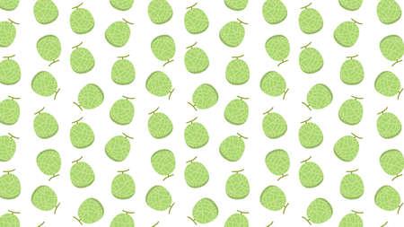 Melon vector. Melon pattern wallpaper. Melon on white background. Vettoriali
