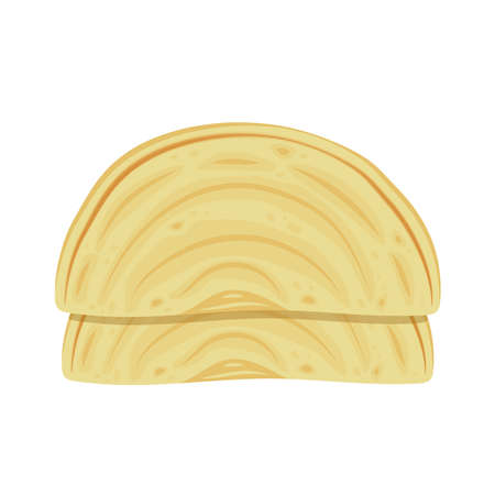 Chapati vector. Chapati on white background.