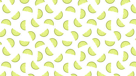 Lime pattern wallpaper. Lime vector on white background. 矢量图像