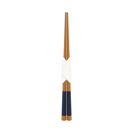 Chopsticks vector. Chopsticks on white background.