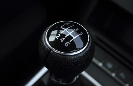 palanca: identificador de negro de la transmisi�n del coche